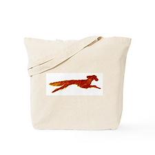 Leaping Irish Setter Tote Bag