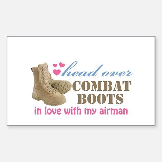Cute Airman wife Sticker (Rectangle)