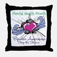 Mental Health Month BASTS Throw Pillow