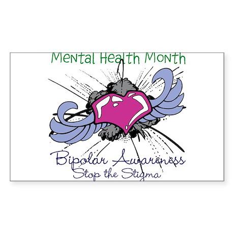Mental Health Month BASTS Sticker (Rectangle)