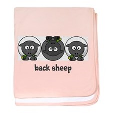 Back Sheep baby blanket