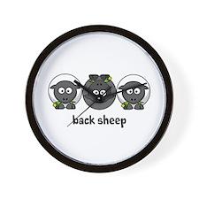 Back Sheep Wall Clock