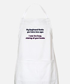 Staring at your boobs BBQ Apron