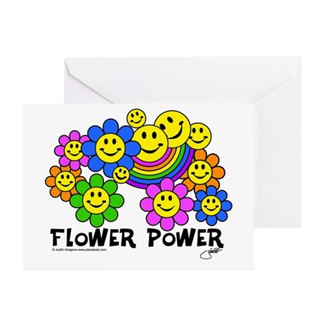 flowerpowersmileysfp Greeting Cards
