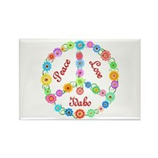 Peace Love Idaho Rectangle Magnet