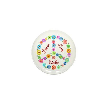 Peace Love Idaho Mini Button