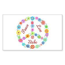 Peace Love Idaho Decal