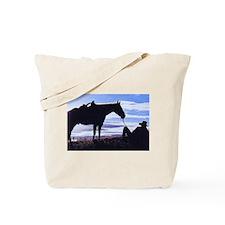 Cowboy Sunset Tote Bag