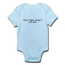 Proof That Daddy's Not Gay Short Sleeve Onesie