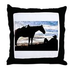 Cowboy Sunset Throw Pillow