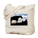 Cowboy Sunset Tote Bag