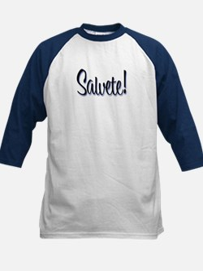 "Salvete! ""Hello!"" in Latin Kids Baseball Jersey"