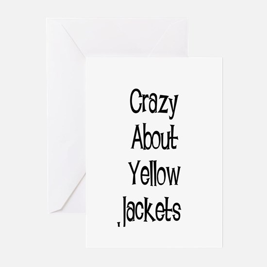 Crazy About Yellow Jackets Greeting Cards (Package