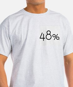 48 Percent Ash Grey T-Shirt