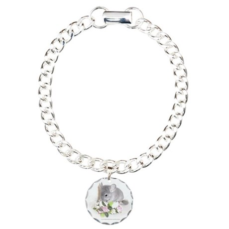 Violet Chinchila Charm Bracelet