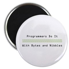 """Programmers Do It 2.25"""" Magnet (10 pack)"""