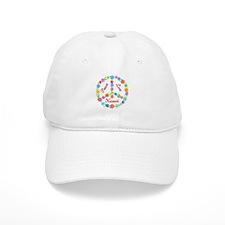 Peace Love Hawaii Baseball Cap
