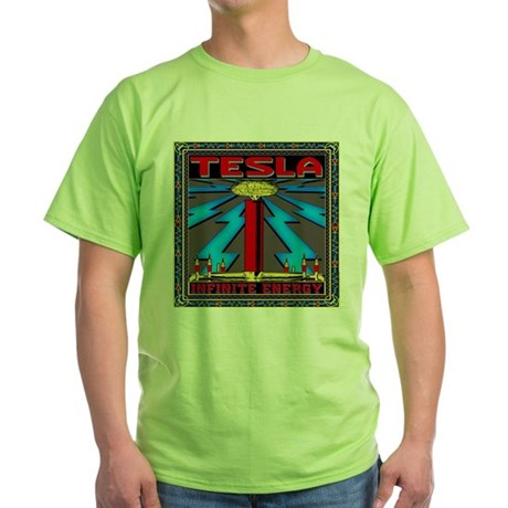 TESLA COIL Green T-Shirt