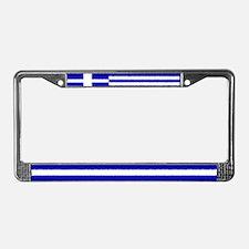 Greek Flag License Plate Frame