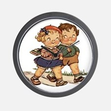 Kids Walking Wall Clock