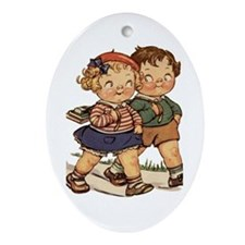 Kids Walking Ornament (Oval)