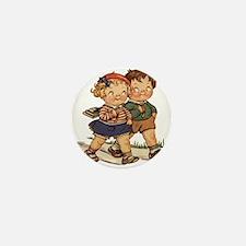 Kids Walking Mini Button