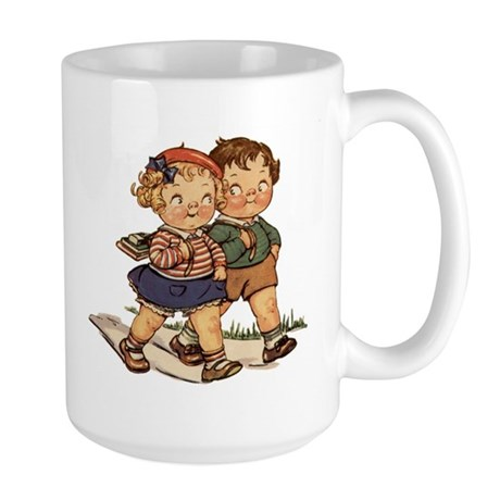Kids Walking Large Mug