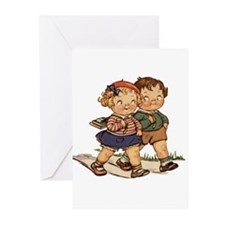 Kids Walking Greeting Cards (Pk of 10)
