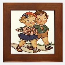 Kids Walking Framed Tile