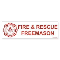 Masonic Fire & Rescue Bumper Bumper Sticker