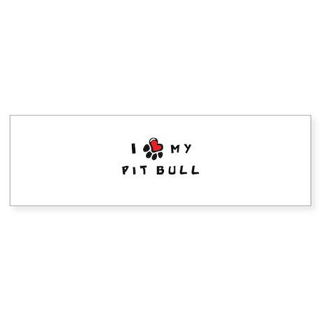 I *heart* My Pit Bull Sticker (Bumper)
