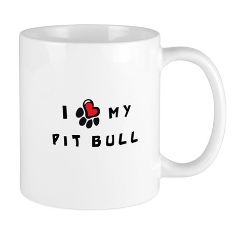 I *heart* My Pit Bull Mug
