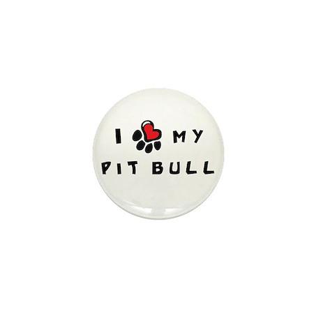 I *heart* My Pit Bull Mini Button (10 pack)