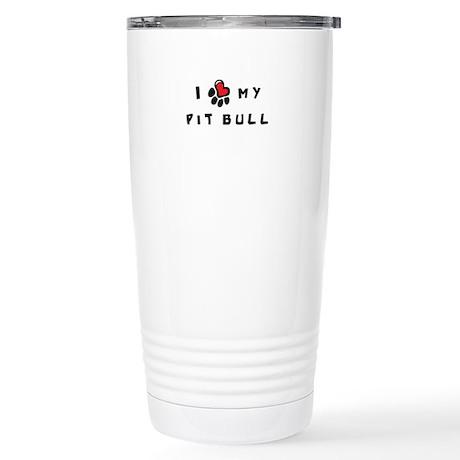 I *heart* My Pit Bull Stainless Steel Travel Mug
