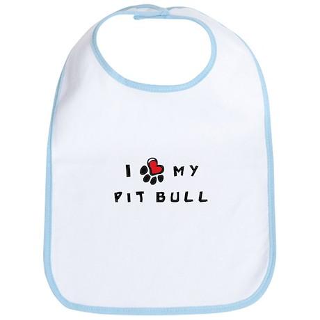 I *heart* My Pit Bull Bib