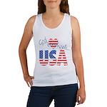 God Bless the USA Women's Tank Top