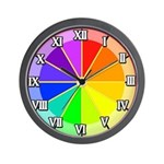 RAINBOW SERIES:  Color Wheel Wall Clock