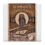 1883 Almanac Cover Tile Coaster