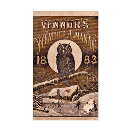 1883 Almanac Cover Sticker (Rectangle 10 pk)