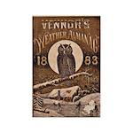 1883 Almanac Cover Rectangle Magnet