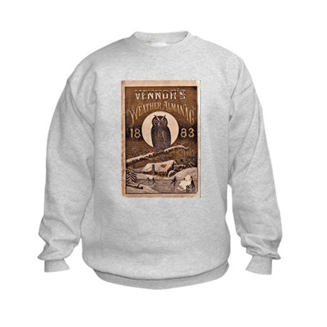 1883 Almanac Cover Kids Sweatshirt
