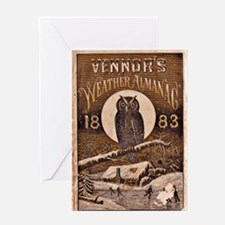 1883 Almanac Cover Greeting Card