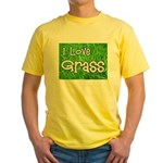 I Love Grass Yellow T-Shirt