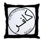 Pure Infidel (Black Logo) Throw Pillow