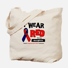 I wear red for my daughter Tote Bag