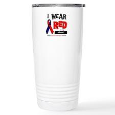 I wear red for my niece Travel Mug