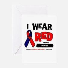 I wear red for my niece Greeting Cards (Pk of 20)