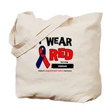 I wear red for my niece Tote Bag