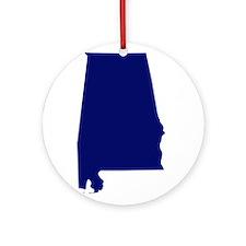 Alabama - Blue Ornament (Round)