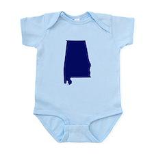 Alabama - Blue Infant Bodysuit